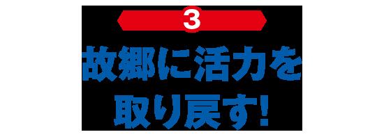 (3)故郷に活力を取り戻す!
